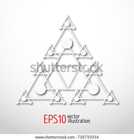 magic white triangle with