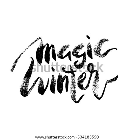 magic winter lettering