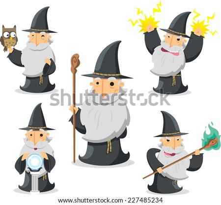 magic witch wizard in action