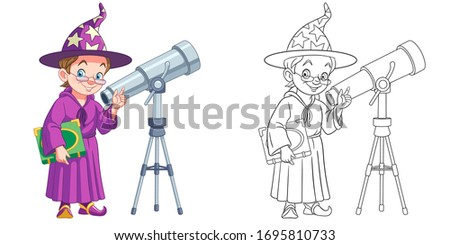 magic wizard or astronomer with