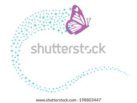 magical butterfly with pixie