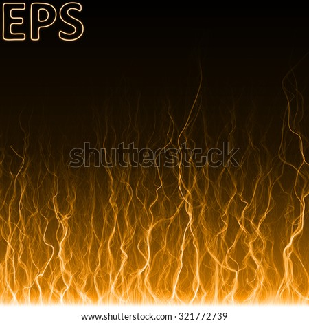 Stock Photo magical energy flames effect. energy veins from bottom to top.orange colored version.