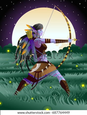 magical fantasy wild dark elf
