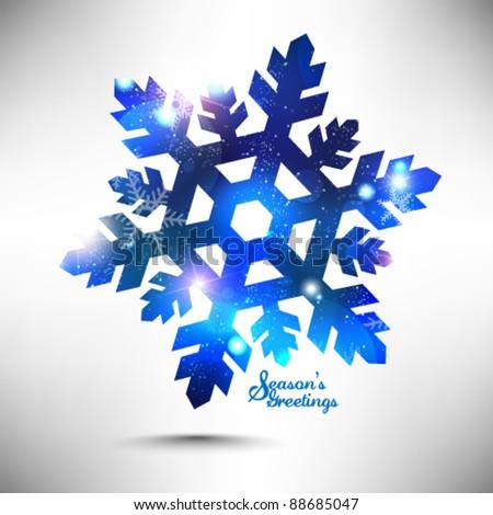 magical snowflakes winter vector design