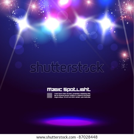 magical spotlight vector background design