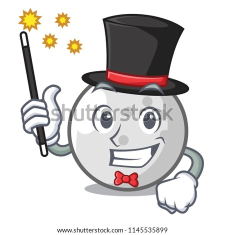 magician golf ball mascot