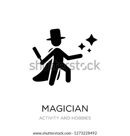 magician icon vector on white