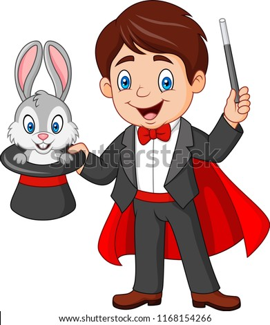 magician pulling out a rabbit