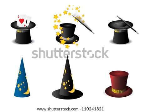 Magician's hat - stock vector