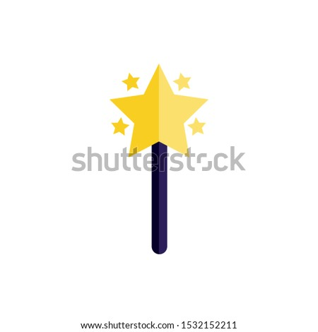 Magician wand design. Magic performance trick wizard magical imagination and entertainment theme. Vector illustration.