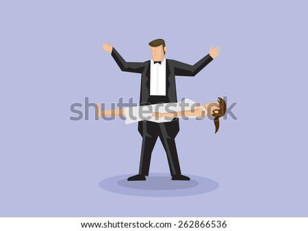 magician wearing black bow tie