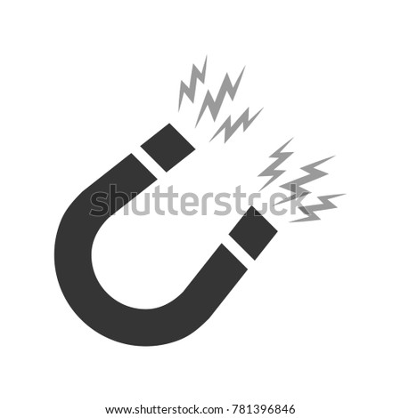 Magnet illustration in flat style. Magnetism, magnetize or attraction concept. Vector illustration.