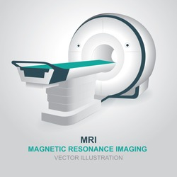 Magnetic resonance imaging device. Isolated MRI scanner vector illustration.