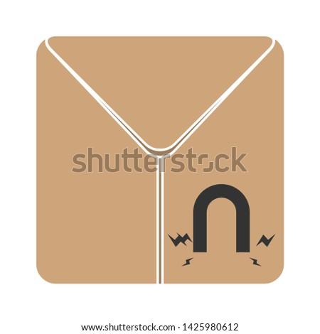 magnetic shipping carton icon. flat illustration of magnetic shipping carton vector icon for web