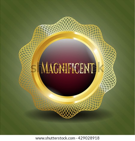 Magnificent gold badge or emblem