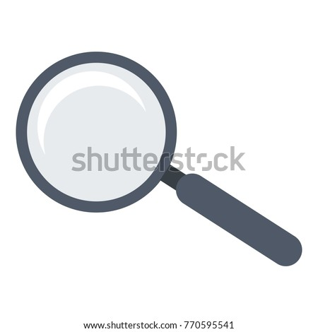Magnifier icon. Flat illustration of magnifier vector icon for web