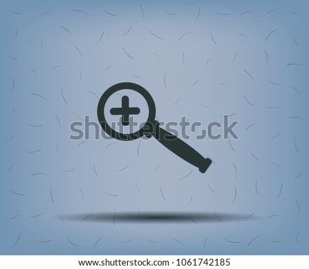 magnifier with a plus sign