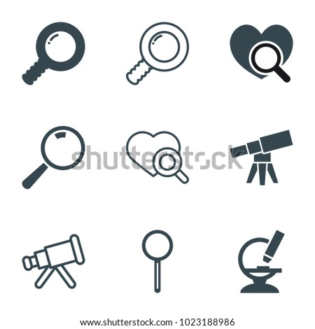 magnify icons set of 9