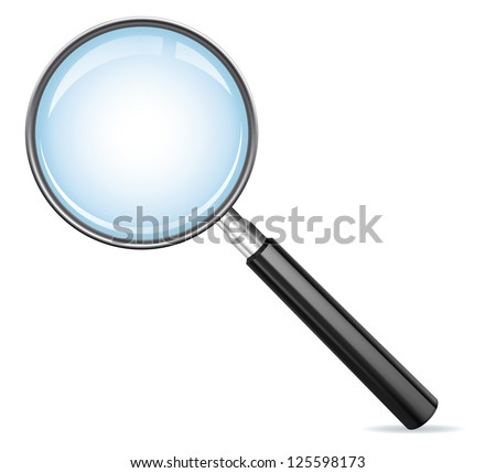 Magnifying glass as a search icon. EPS-10 - stock vector