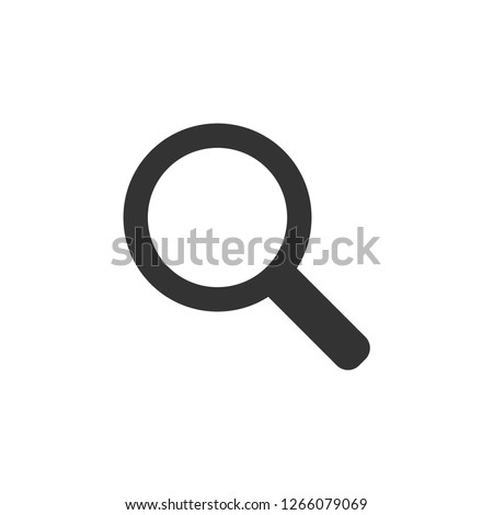 Magnifying glass graphic icon design template isolated