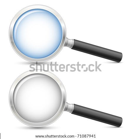 Magnifying glass. Highly detailed realistic vector illustration