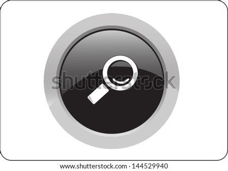 magnifying glass icon button on white background