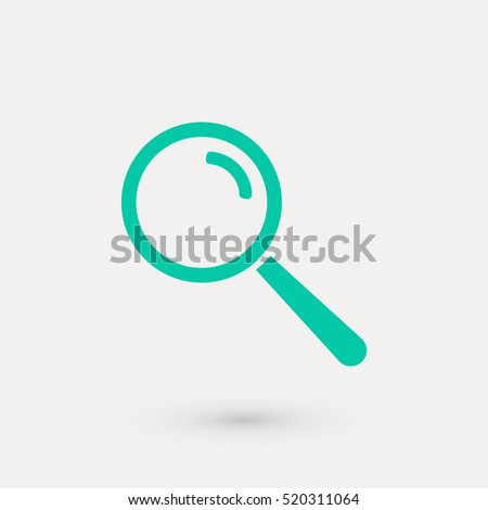 magnifying glass icon vector, flat design best vector icon