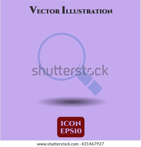 magnifying glass icon vector symbol flat eps jpg app