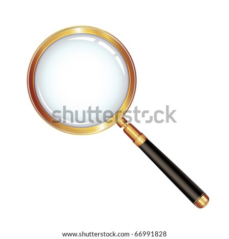 Magnifying glass isolated over white background, vector object