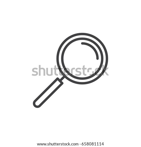 Magnifying glass line icon, outline vector sign, linear style pictogram isolated on white. Search symbol, logo illustration. Editable stroke. Pixel perfect
