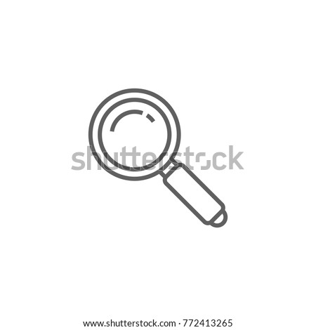 Magnifying glass line icon vector