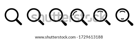 Magnifying glass loupe. Vector isolated icon. Search icon vector. Magnifier loupe sign. EPS 10 Photo stock ©