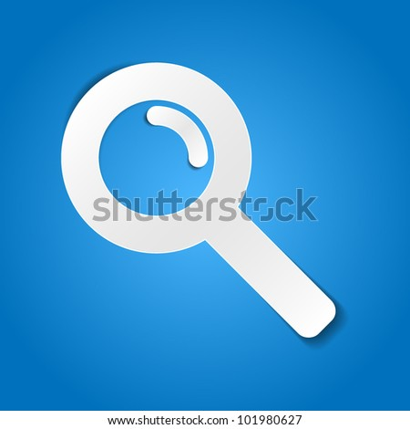 Magnifying glass - paper cut design