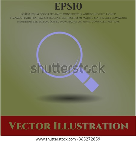 Magnifying glass, search icon vector illustration