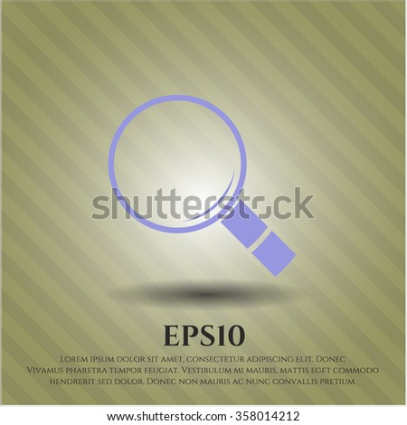 Magnifying glass, search vector icon