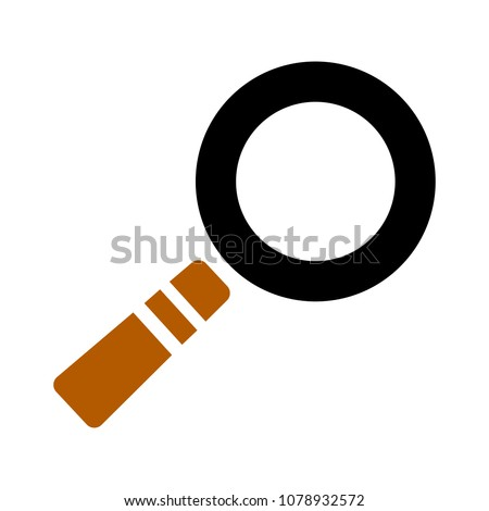 magnifying glass symbol, find icon - search button, magnifier symbol isolated