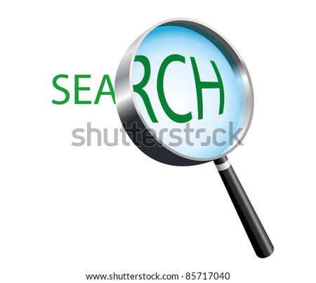 Magnifying Glass. Text label search