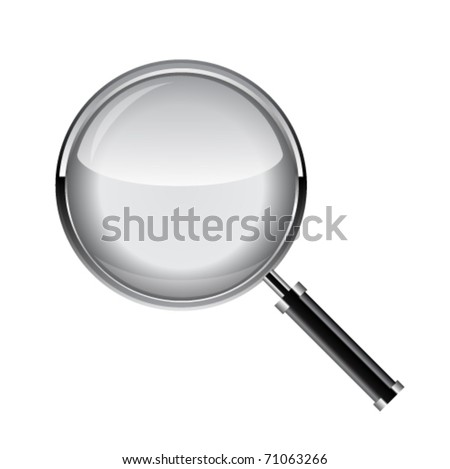 Magnifying glass. Vector