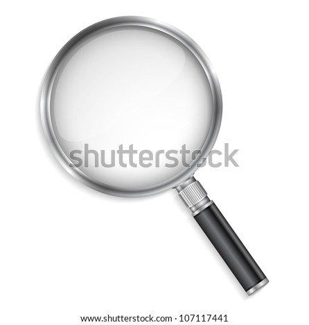 Magnifying glass, vector eps10 illustration