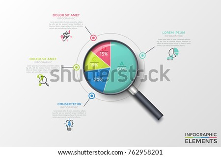 magnifying glass with circular