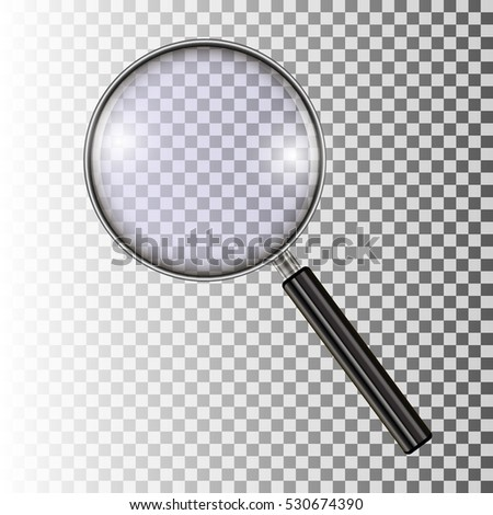 Magnifying Glass, With Gradient Mesh, Isolated on Transparent Background, Vector Illustration