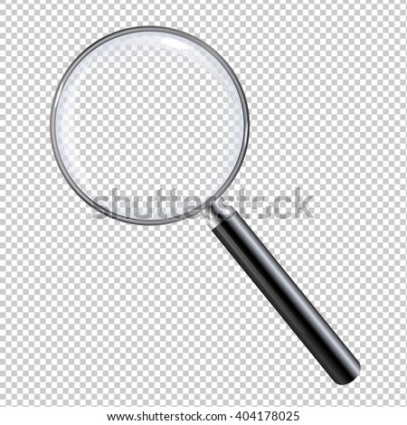 magnifying glass  with gradient