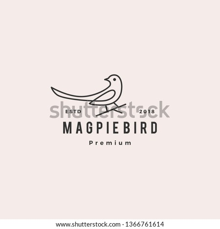 magpie bird logo vector icon illustration