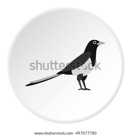 magpie icon flat illustration