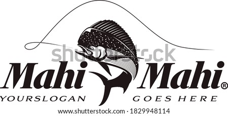 Mahi Mahi Fishing Logo. A Unique and Fresh Dorado Fishing Logo Template. Great to use as your fishing Activity.
