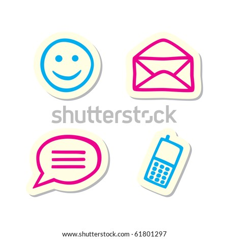 Mail and Chat Icons