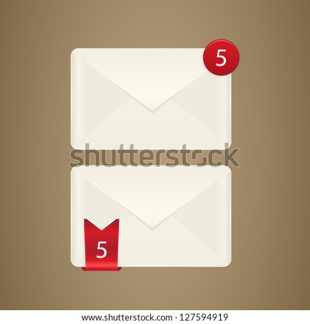 Mail box icon. E mail icon. Vector illustration Eps 10.Vector envelope on white background.