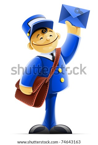 mail carrier with bag and