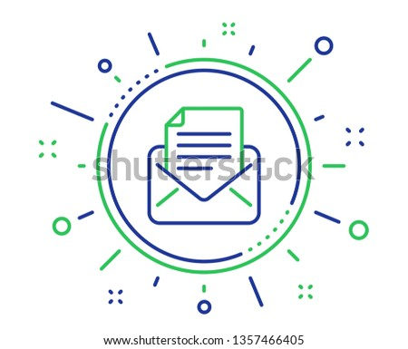 Mail correspondence line icon. Read Message sign. E-mail symbol. Quality design elements. Technology mail correspondence button. Editable stroke. Vector