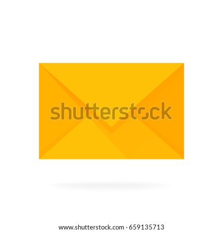 Mail envelope icon. Email send concept vector illustration.